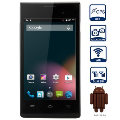 iNew U1 Android 4.4 3G Smartphone with 4.0 inch WVGA Screen MTK6572 1.0GHz Dual Core 4GB ROM WiFi GPS Dual Cameras