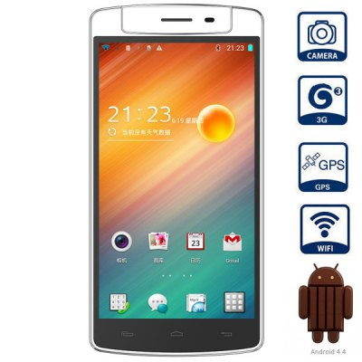 iNEW V8 Android 4.4 3G Phablet with 5.5 inch HD IPS Screen MTK6591T 1.5GHz Hexa Core 2GB RAM 16GB ROM GPS OTG NFC