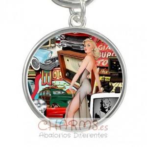 Medalla para pulsera estilo vintage Mod 040001006