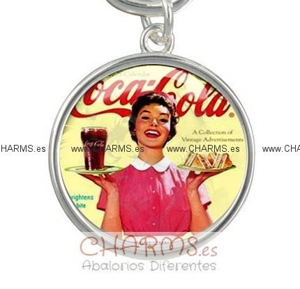 colgantes retro y vintage coca cola