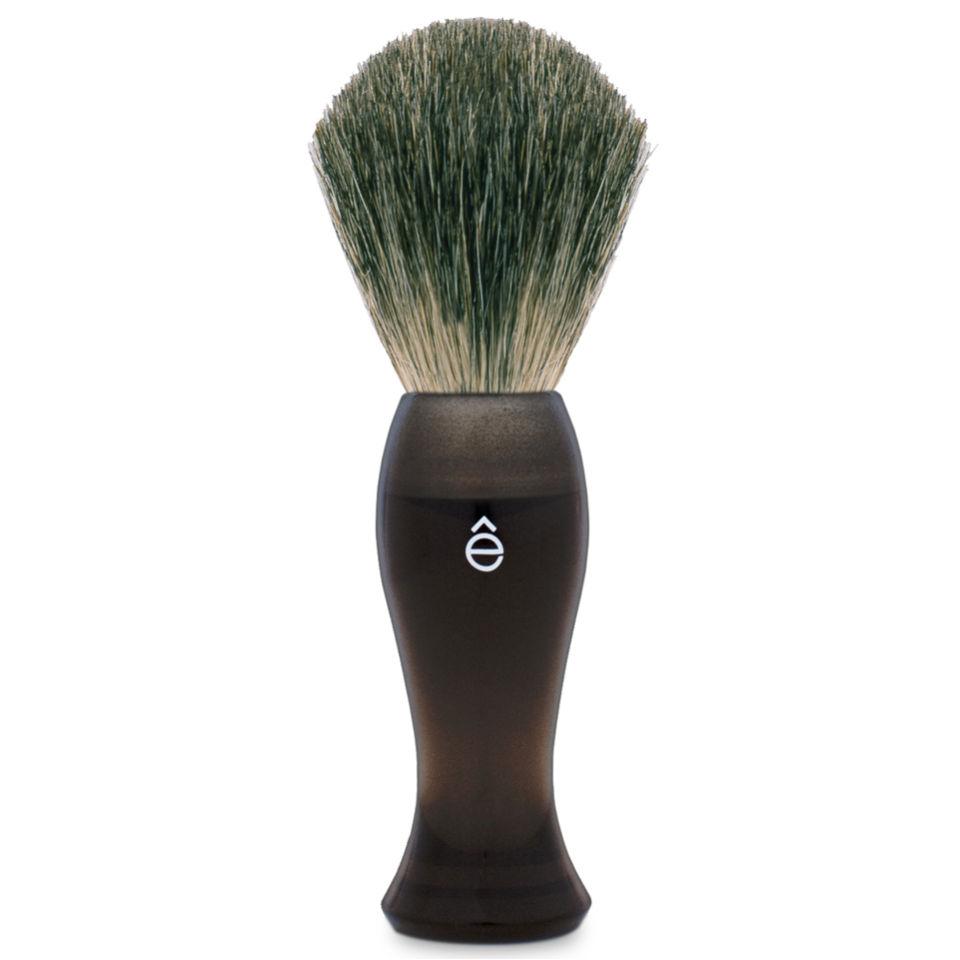 eShave Long Shave Brush Plastic Handle Smoke