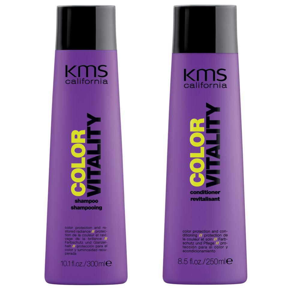 Duo productos fijacion de color KMS California Colorvitality Pack (2 productos)
