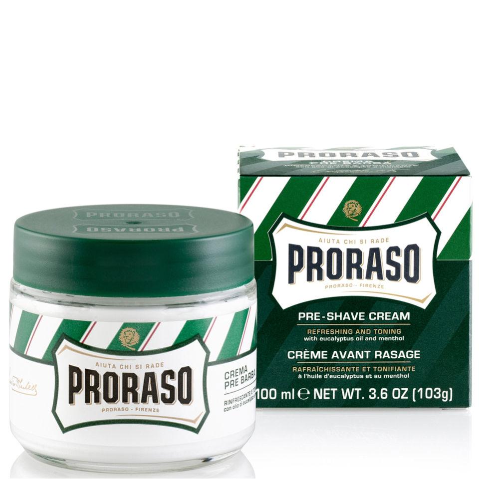 crema Proraso para antes del afeitado - Eucalyptus y Menthol