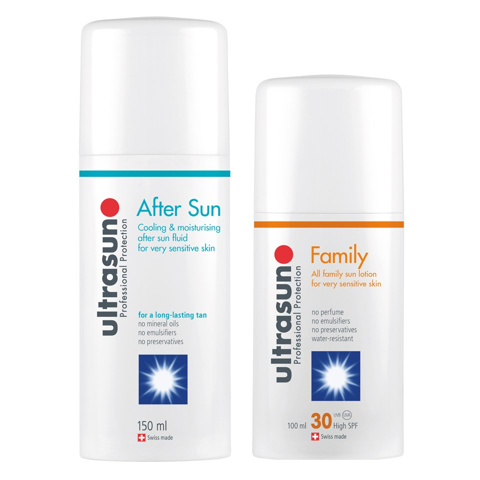 Ultrasun Family SPF 30 - Super Sensitive (100ml) and Ultrasun Aftersun