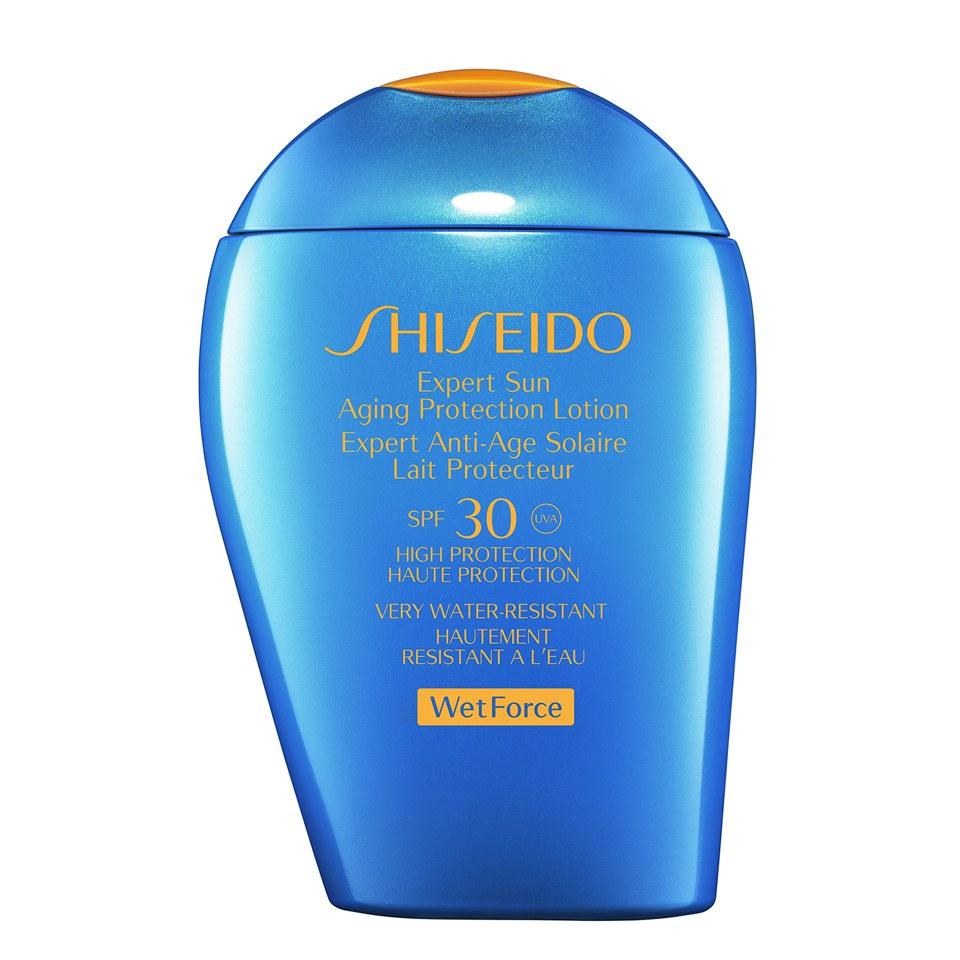 Locion Protectora Antienvejecimiento Shiseido Wet Force Expert Sun con FPS30 (100ml)