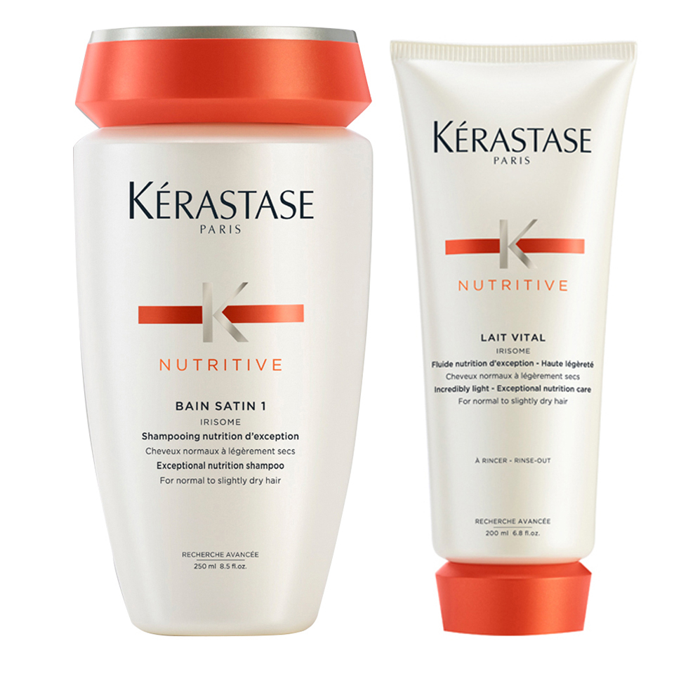KeRASTASE NUTRITIVE BAIN SATIN 1 250ML & NUTRITIVE LAIT VITAL 200ML