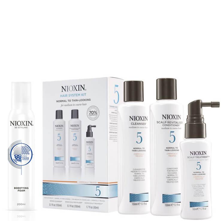 NIOXIN Hair System Kit 5 y Espuma Voluminizante Surtido: