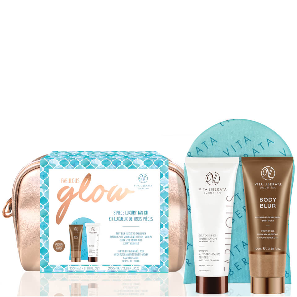 Vita Liberata Fabulous Glow Luxury Tan Washbag Kit - Medium Lotion