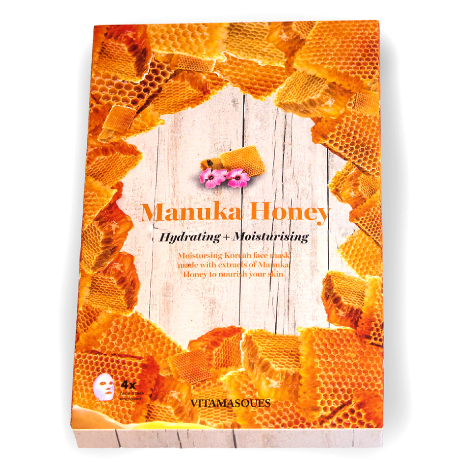 Vitamasques Manuka Honey Hydrating Moisturising Mask (Box of 4)