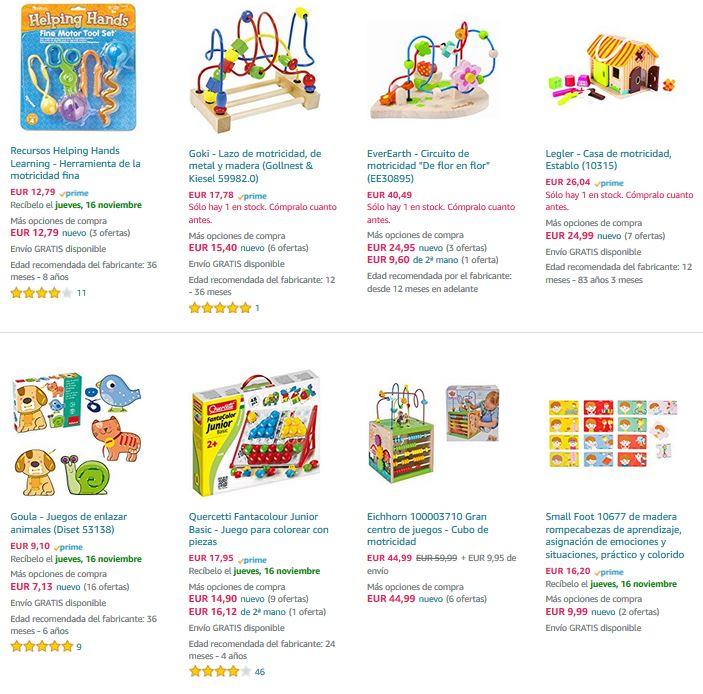 juguetes motricidad niños