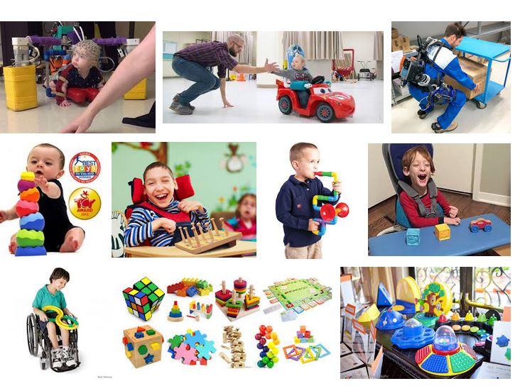 juguetes para niños con paralisis cerebral