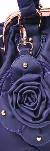 adornos bolsos flor