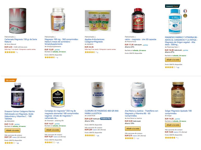 suplementos magnesio nutricion