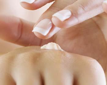 El aceite de coco a la eccema de las manos