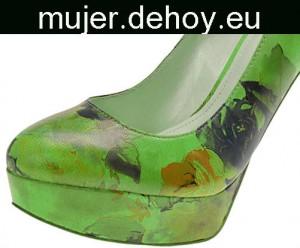 zapatos cerrados verdes