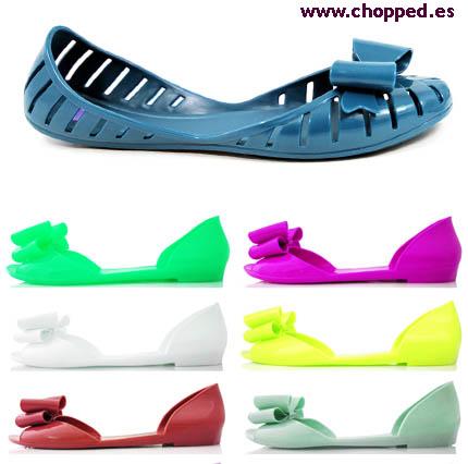 zapatos goma moda