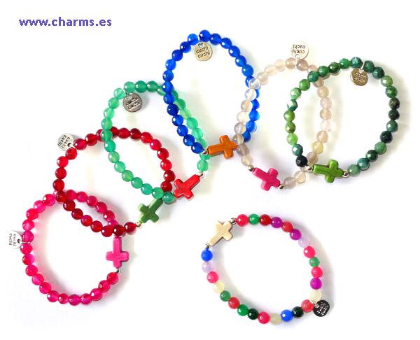 pulseras cruces moda