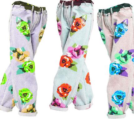 pantalones pijama flores