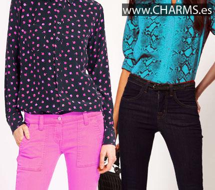 camisas estampadas color