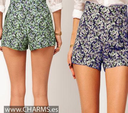 shorts estampados cortos