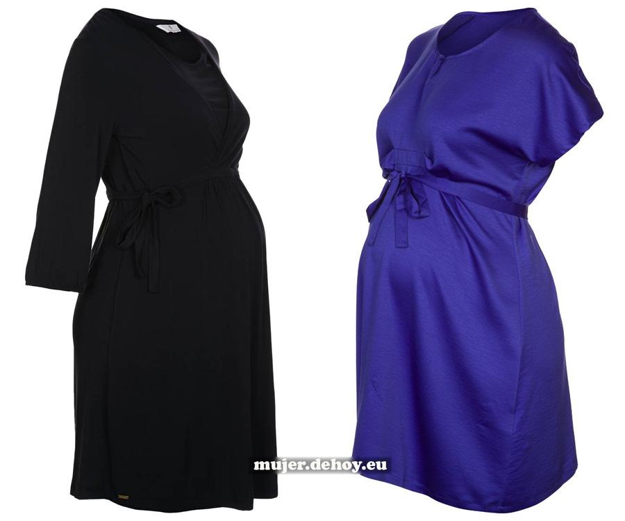 vestidos premama azules