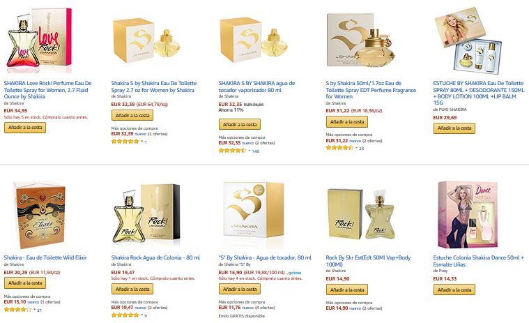 nuevo perfume shakira notizalia