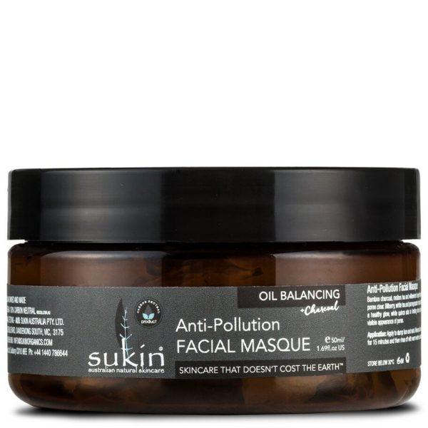 Sukin Oil Balancing + Charcoal Anti-Pollution Facial Masque 100ml