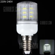 E14 10W SMD - 5630 24 - LED 900lm 6000 - 6500K rayas creemos sombreada luz de maiz (220 - 240V)