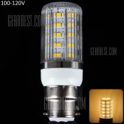 B22 12W 1100LM 36 x 5630 SMD 3000 - 3200K LED Lampara de maiz con cubierta de rayas - 100 - 120V