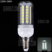 E14 15W SMD 5050 48 - LED 1350LM LUZ LUZ LUZ de maiz blanco transparente (6000 - 6500K)