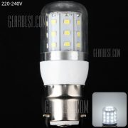 8W B22 - 30 LED SMD2835 750LM LED Luz Lampara de filo de plata de maiz 3000 - 3200K