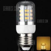 E27 10W SMD de 48 x2835 3000 - 3200K 900LM LED Bombilla de maiz con envoltura clara