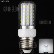 15W E27 - 72 LED SMD2835 1350LM 6000 - 6500K LED Luz Lampara de filo de maiz Plata 100 - 120V
