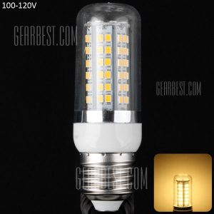 E27 18W 80 SMD x2835 3000 - 3200K 1650LM 100 - 120V LED Lampara de maiz con envoltura clara