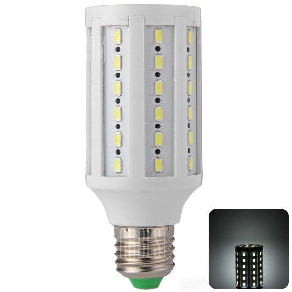 HZLED 12W E27 60 x 5630 SMD 6000K 960lm Lampara LED de luz blanca de maiz