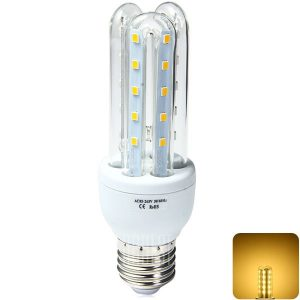 E27 3U 9W 30 x 850LM2835 SMD LED luz blanca calida de maiz en forma de U - Bombilla ( 85 - 265V )