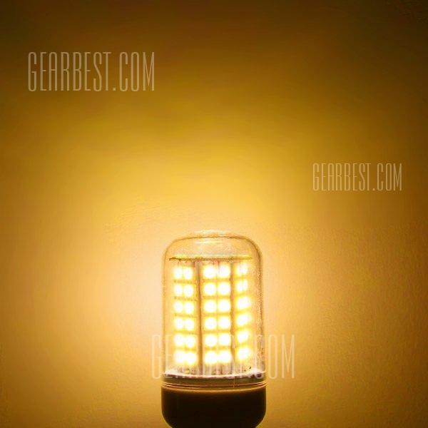 E14 8W 2400LM 60 x 5730 SMD de luz blanca suave sombreado claro LED Lampara de maiz 220V