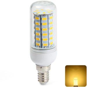 Sencart 2200LM E14 11W SMD 5730 de 56 LEDs de luz blanca calida bombilla de maiz
