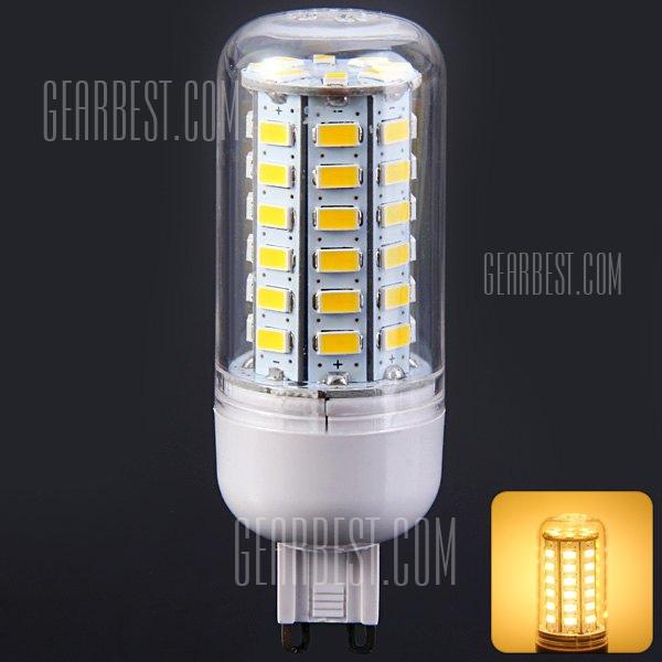900LM G9 9W SMD 5730 56 LED Lampara de maiz transparente ( 3000 - 3500K 220 - 240V )