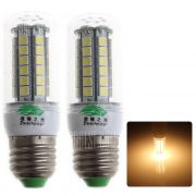 Zweihnder E27 5W, 450LM 48 x 5050 SMD LED Bombilla de luz blanca calida de maiz ( 2pcs 3000 - 3500K )