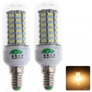 2pcs Zweihnder QR - E14 - 56 E14 9W 800lm 56 5730 SMD LED Bombilla de luz blanca calida de maiz
