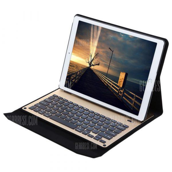 Cubierta de cuero de PU de teclado Bluetooth con soporte para iPad Pro