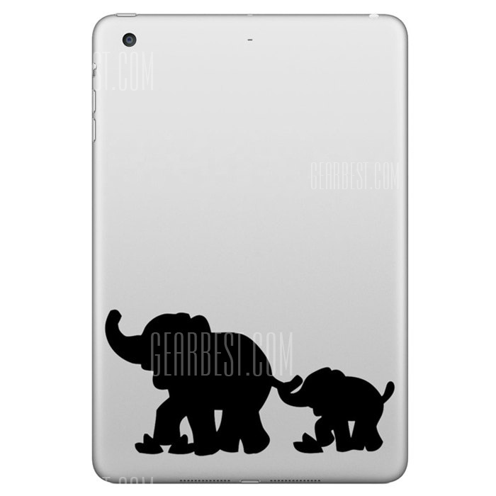 Extraible Hat-Prince piel decorativa Pegatina para iPad Mini con diseño de elefantes