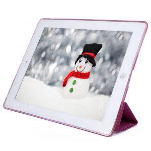 Cuero PU TPU Silicona suave cubierta posterior para el iPad 2 / 3 / 4