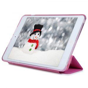 Cuero PU TPU Silicona suave cubierta posterior para iPad mini 1 / 2 / 3