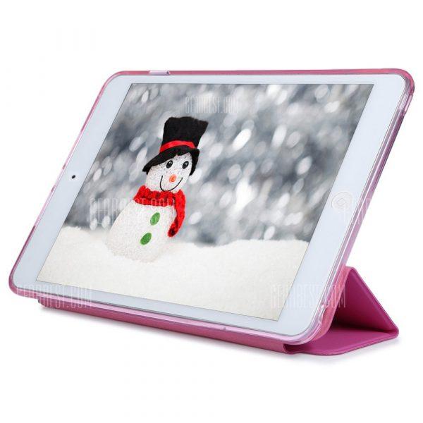 Cuero PU TPU Silicona suave cubierta posterior para iPad Mini 4
