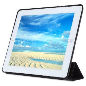 PU ultra delgada cubierta de cuero para iPad 2 / 3 / 4