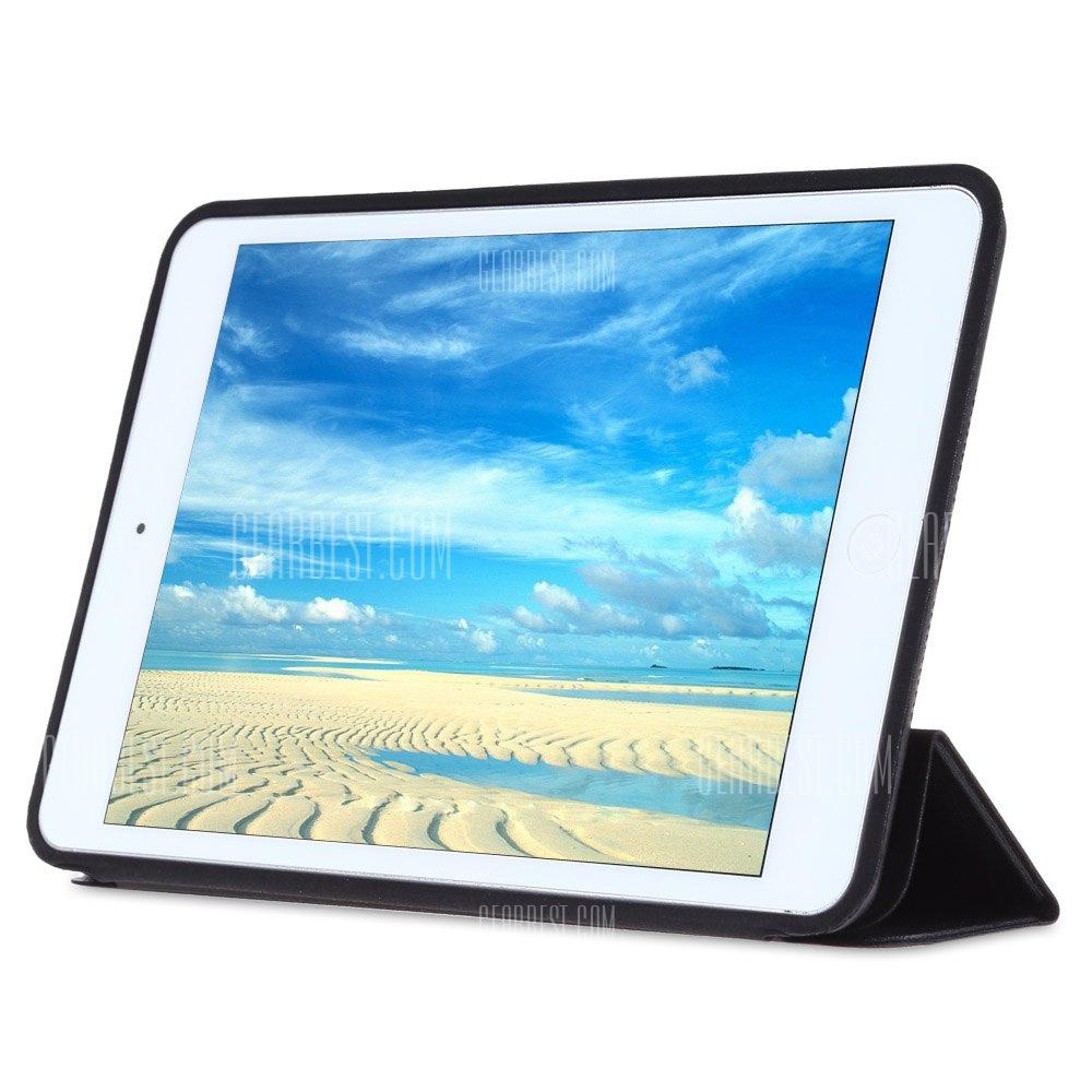 Ultra delgada cubierta de cuero pu para iPad mini 1 / 2 / 3