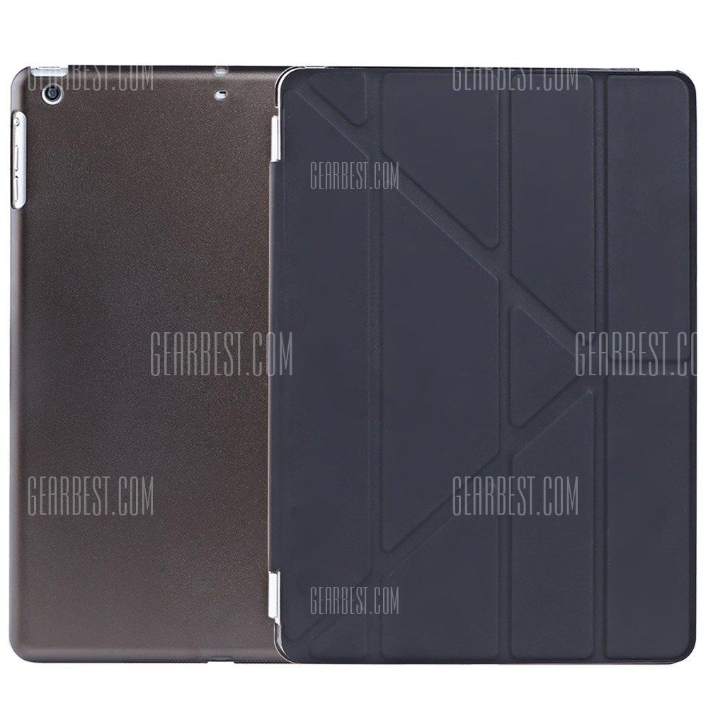 Ultra Slim de cuero pu cubierta de suspension inteligente para iPad Air