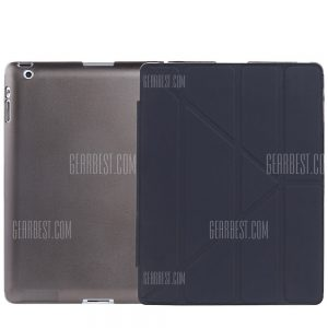 Ultra Slim de cuero pu cubierta de suspension inteligente para iPad 2 / 3 / 4